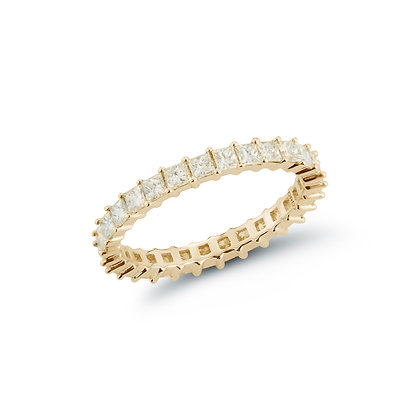 Dana Rebecca 14ct gold and diamond Millie Ryan princess cut eternity ring