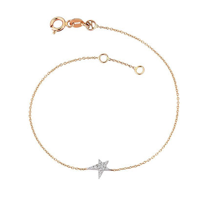 Kismet by Milka 14ct rose gold struck star bracelet