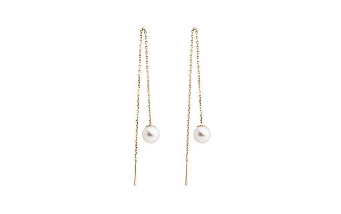 Redline 18ct gold and akoya pearl Sensuelle earrings