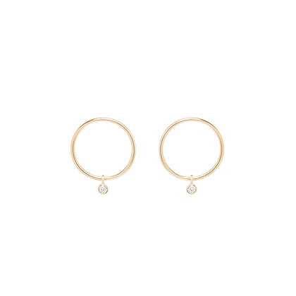 Zoe Chicco 14ct gold and diamond drop earrings