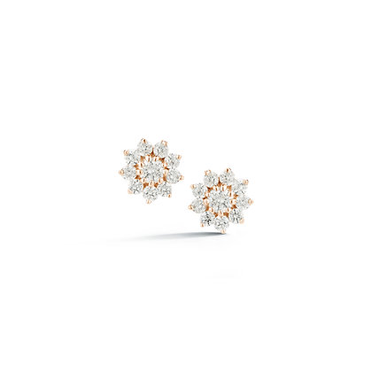 Dana Rebecca 14ct rose gold and diamond Jennifer Yamina starburst stud earrings