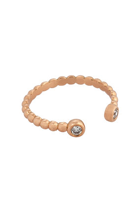 Kismet by Milka 14ct rose gold and diamond double end pinky ring