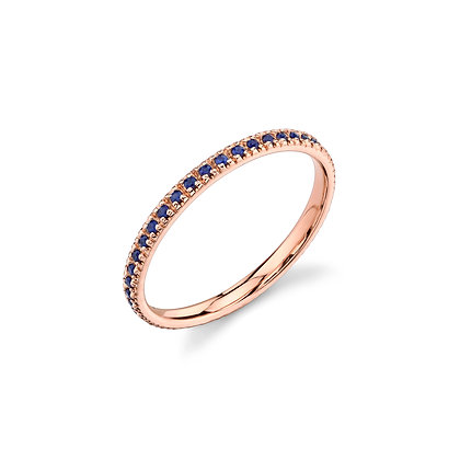 Sydney Evan 14ct rose gold and sapphire eternity band
