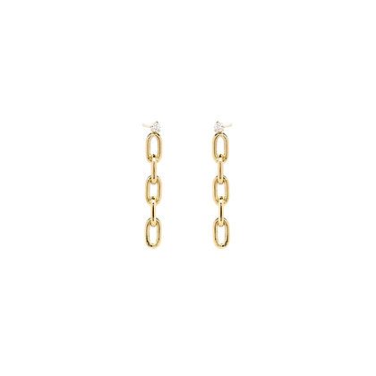 Zoe Chicco 14ct gold link chain drop earrings