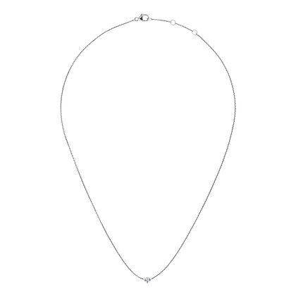 The Alkemistry 18ct white gold and 0.2ct drilled diamond necklace
