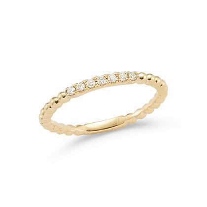 Dana Rebecca 14ct gold and diamond Poppy Rae semi pave band ring