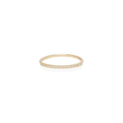 Zoe Chicco 14ct gold half pave diamond ring