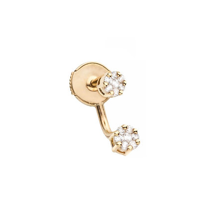 Redline 18ct gold and diamond illusion double drop earring (single)