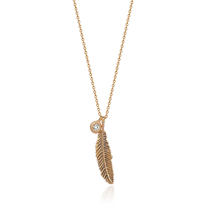 Kismet by Milka 14ct rose gold and diamond raven necklace