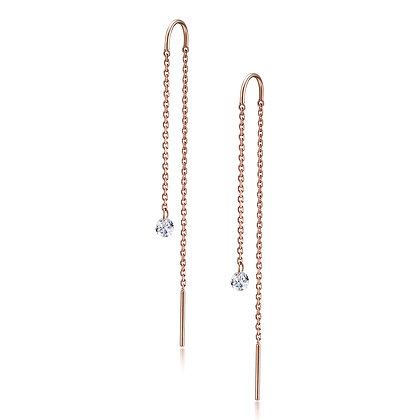 The Alkemistry 18ct rose gold and drilled diamond earrings