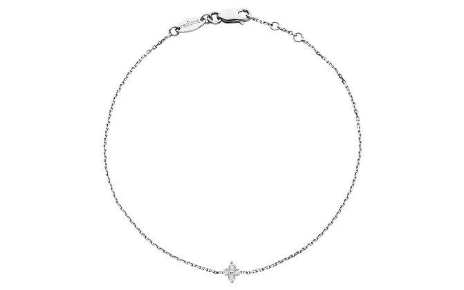 Redline 18ct white gold and diamond chain bracelet