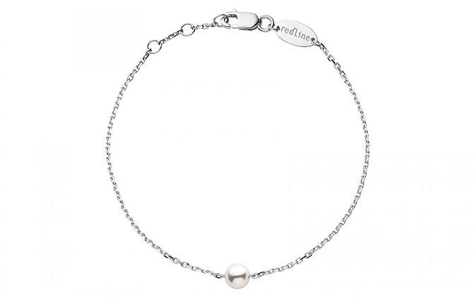 Redline 18ct white gold and akoya pearl Sensuelle bracelet