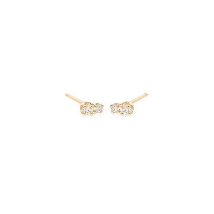 Zoe Chicco 14ct gold and diamond stud earrings