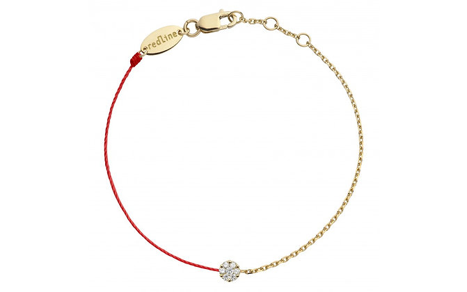Redline 18ct rose gold and diamond red Illusion thread bracelet