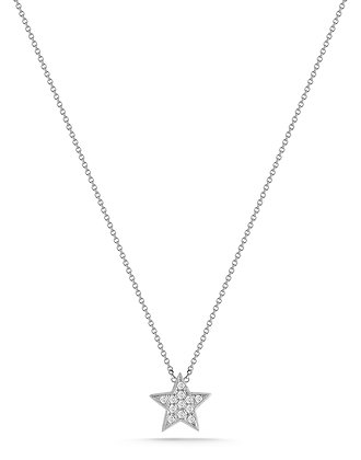 Dana Rebecca 14ct white gold and diamond Julianne Himiko star necklace