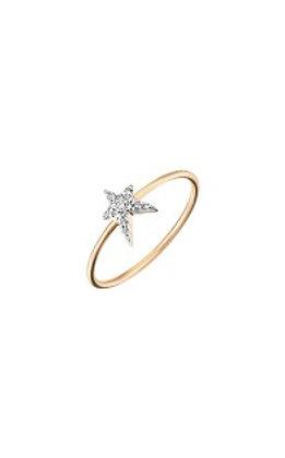 Kismet by Milka 14ct rose gold struck star ring