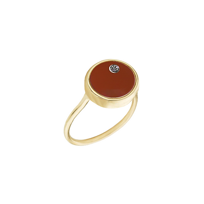 The Alkemistry 18ct gold 'Orion' Aquarius ring