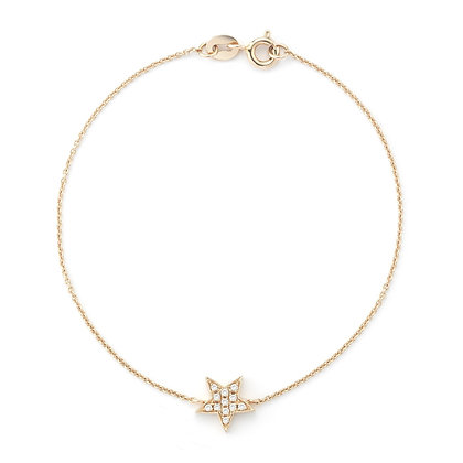 Dana Rebecca 14ct rose gold and diamond Julianne Himiko star bracelet