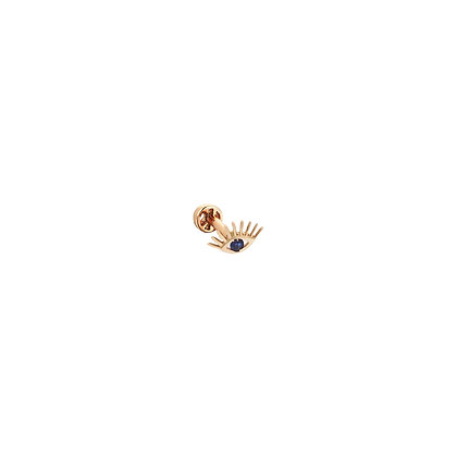 Kismet by Milka 14ct rose gold and diamond evil eye piercing (single)