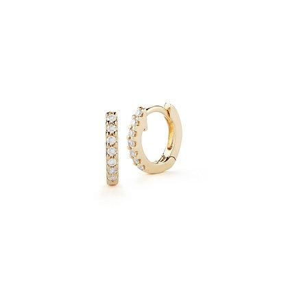 Dana Rebecca 14ct gold and diamond mini huggie earrings