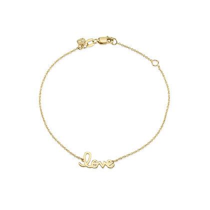 Sydney Evan 14ct gold and diamond 'love' bracelet
