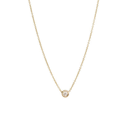 Zoe Chicco 14ct gold and diamond chain necklace