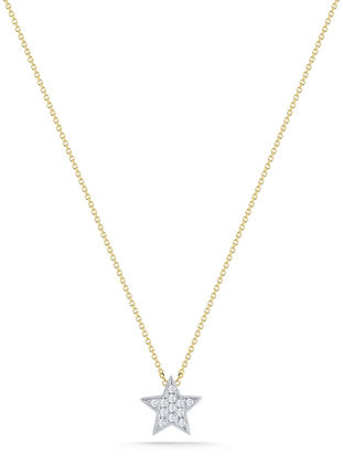 Dana Rebecca 14ct gold and diamond Julianne Himiko star necklace
