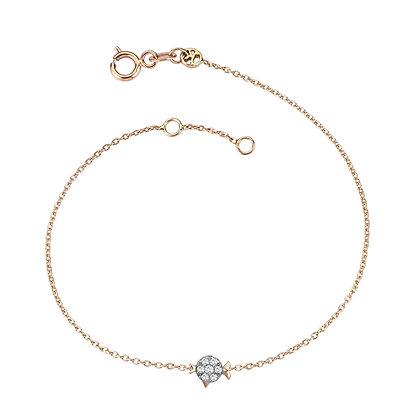 Kismet by Milka 14ct rose gold zodiac bracelet Pisces