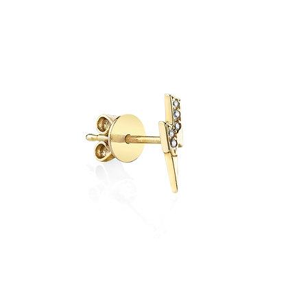 Sydney Evan 14ct gold and diamond lightning bolt earring (single)
