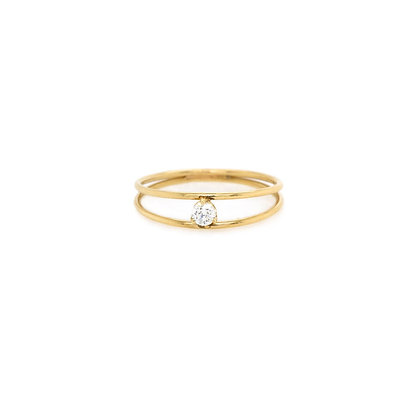 Zoe Chicco 14ct gold double band ring
