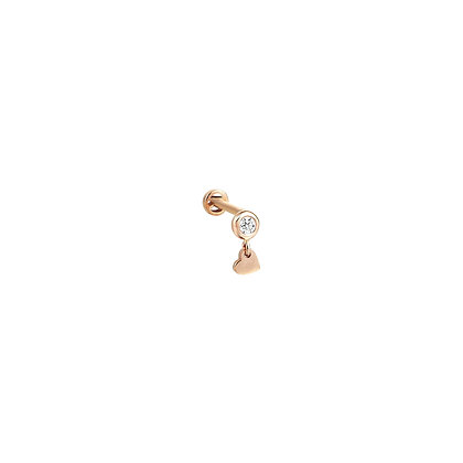 Kismet by Milka 14ct rose gold and solitaire diamond heart piercing (single)