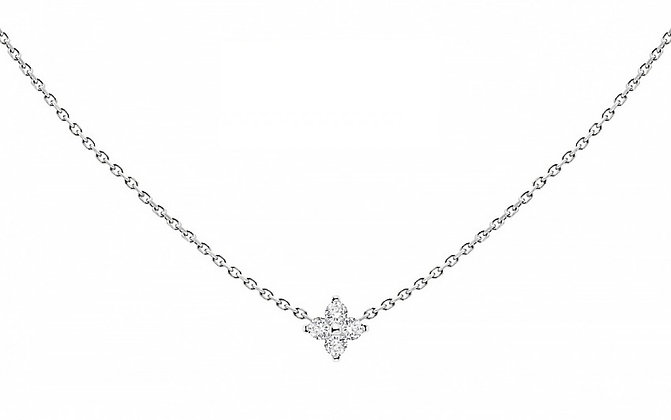 Redline 18ct white gold and diamond chain necklace