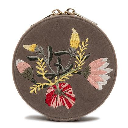 WOLF luxury mink floral velvet jewellery box