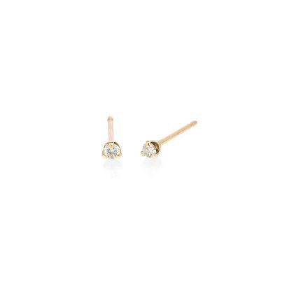 Zoe Chicco 14ct gold and diamond stud earrings