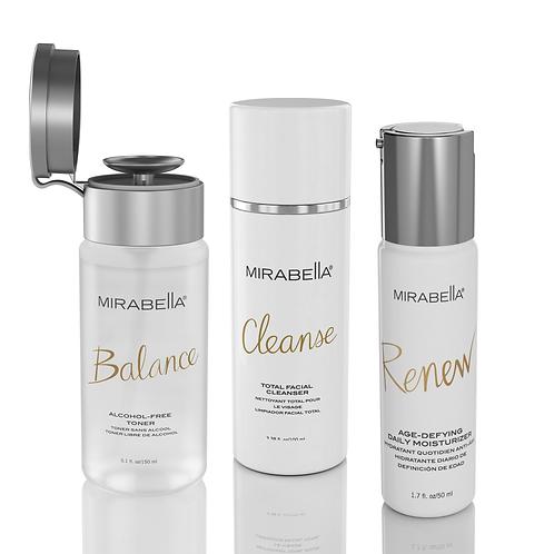 Mirabella 3-Piece Complete Skin Care Set