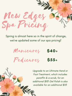 EDGES SPA PRICING