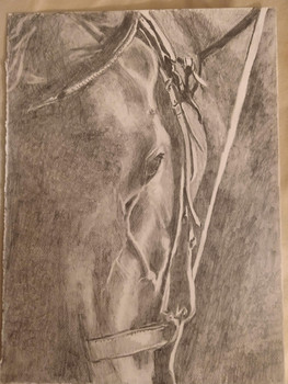 Horse in Graphite - $175