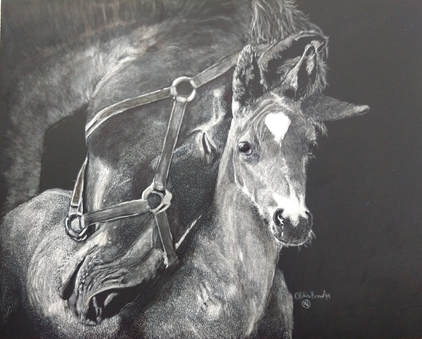 """""""A Mother's Love"""" SOLD - Prints available Contact Me"""