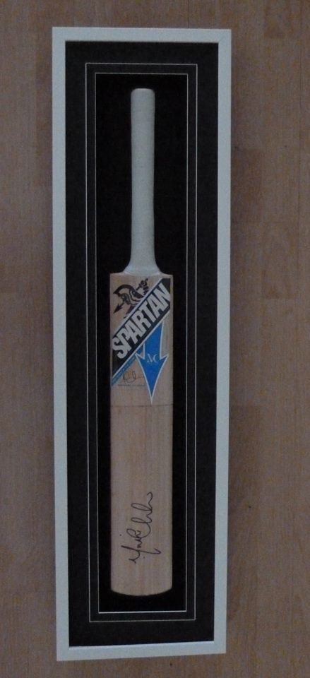 framed cricket bat