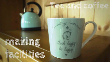 Tea and coffee making facilities filled daily