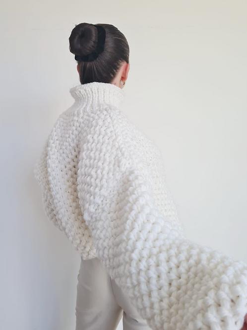 White Honeycomb Knit