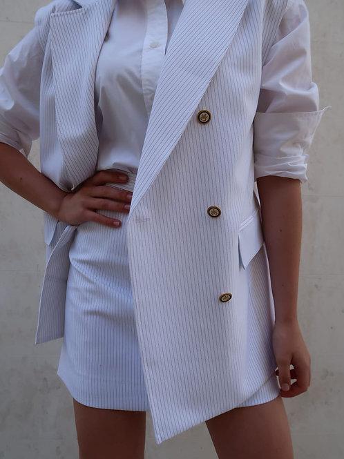 Oversized Pinstriped Vest