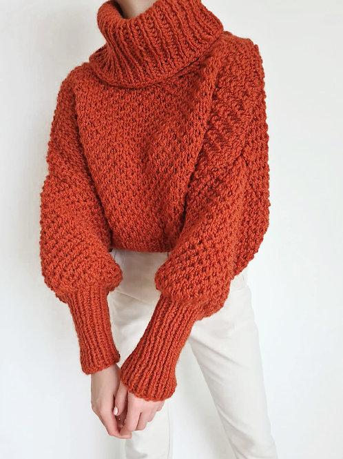 Orange Handmade Knit