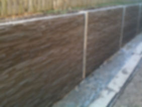 retaining wall textured sleepers