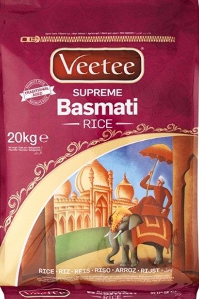 Veetee Supreme Basmati Rice 20kg
