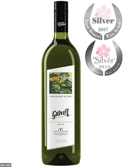 Grover White Wine Indien 12x0.7l