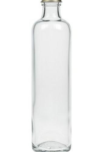 Mango Lassi Krugflasche 700 ml weiß (Klarglas) +PP 28 gold Deckel
