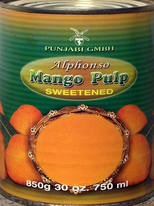 Punjabi Alphonso Mango Pulp Swwetened