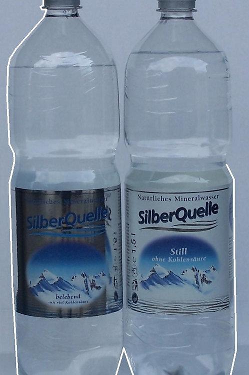 Silber Quelle Mineralwasser Mit und Ohne Kohlensaure