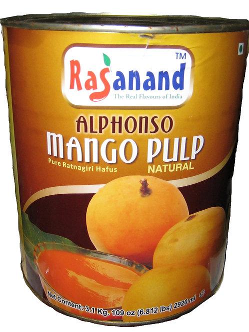 Alphonso Mango Pulp Natural (Rasanand) 3.1kg